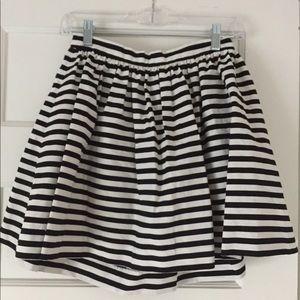 Black& white striped skirt